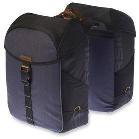 Basil Miles Double Pannier Bag 34l, black slate